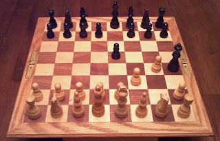 chess board showing a fool's check mate