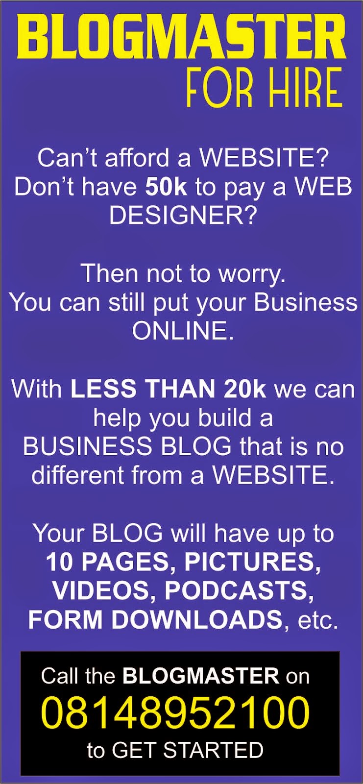 BlogMASTER For Hire