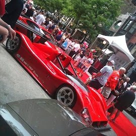 A Ferrari race car! Just on of the amazing cars at the Ferraris On Oak rally!