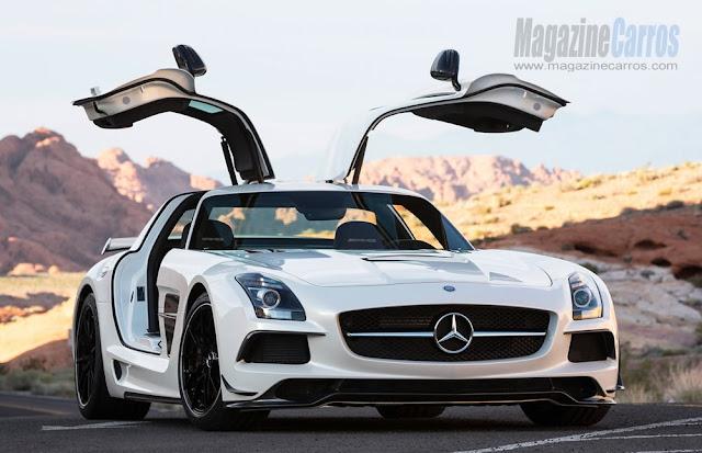 Portas gaivotas do novo Mercedes-Benz SLS AMG Black Series 2014