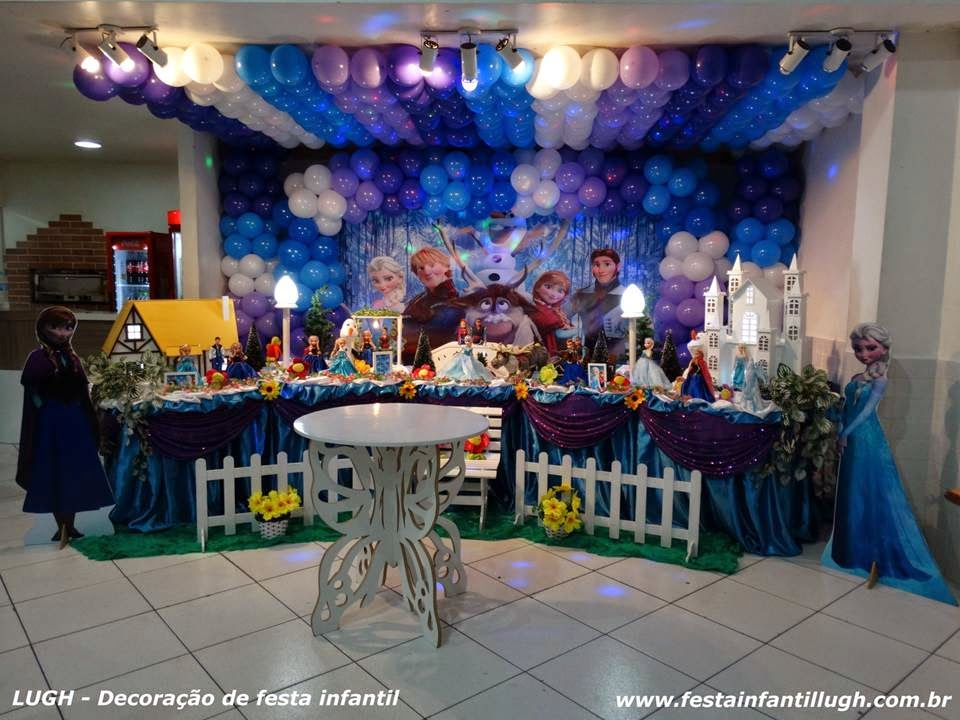 Tema Frozen para decoração de festa infantil