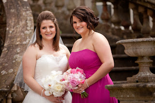 Bride and Bridesmaid, Hair, hairdressing, wedding hairdresser, Louise Chrystal