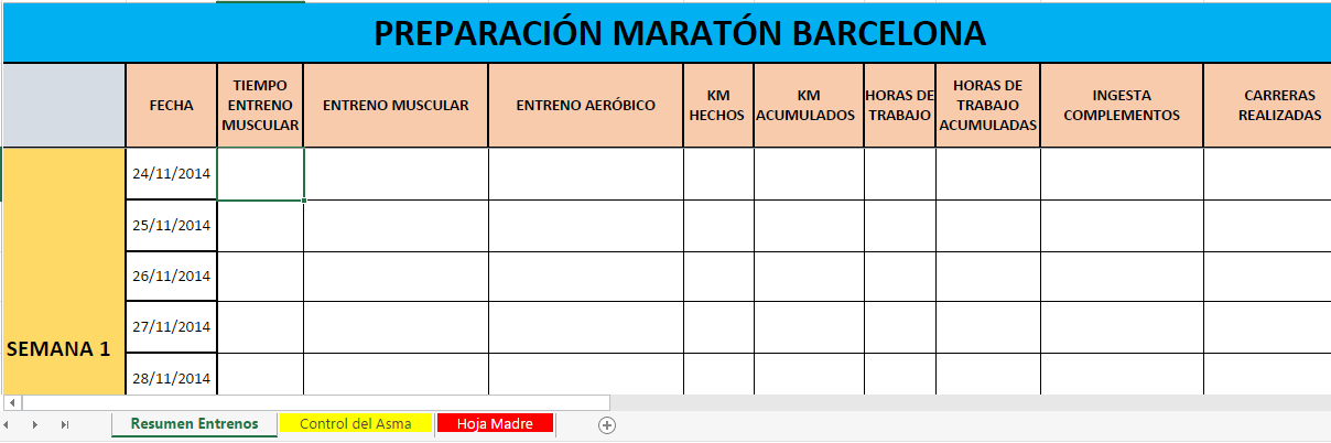 Preparación Maratón Barcelona'15