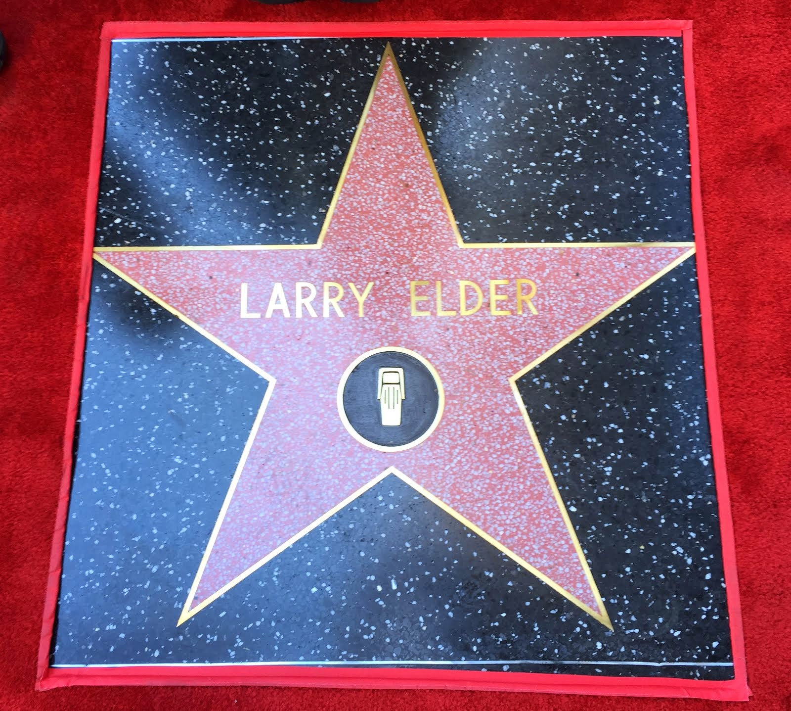 LARRY ELDER RECEIVES A STAR ON THE HOLLYWOOD WALK OF FAME, APRIL 27, 2015