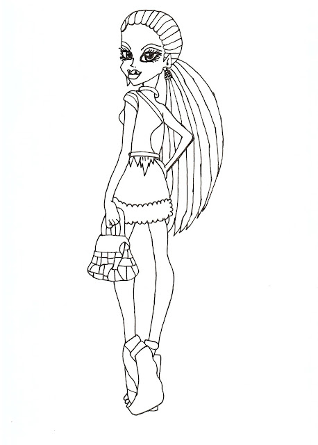 All About Monster High Dolls Abbey Bominable Free Printable Coloring Pages