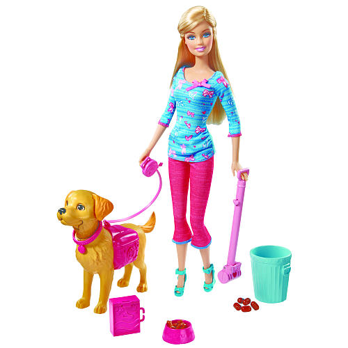 Poop Scoopin' Barbie. Barbie Potty Training Taffy Barbie Doll and Pet