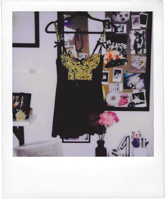 Sunflower Mesh Babydoll Polaroid