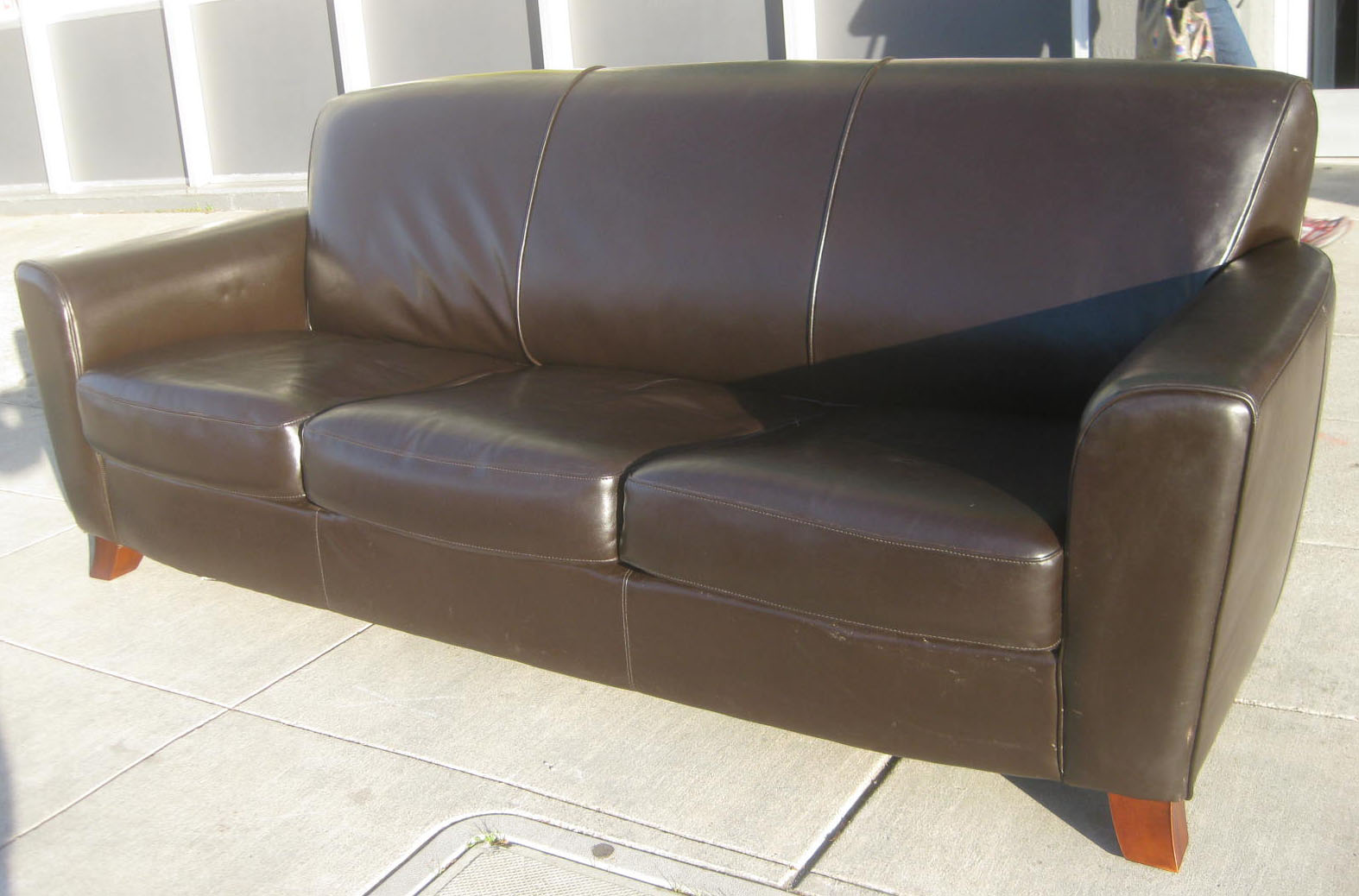 SOLD   Chocolate Leather Sofa   $200
