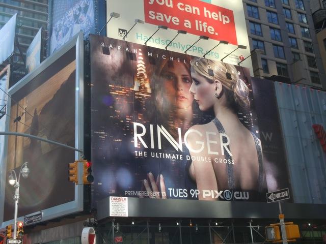 Ringer TV billboard NYC