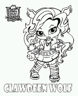 Monster High, Dibujos de Clawdeen Wolf, para Pintar