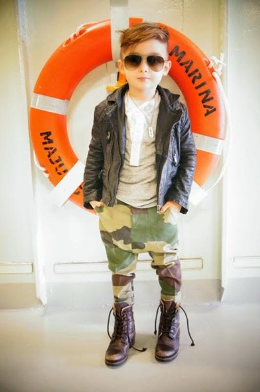 Foto gambar bocah laki-laki termodis dan top