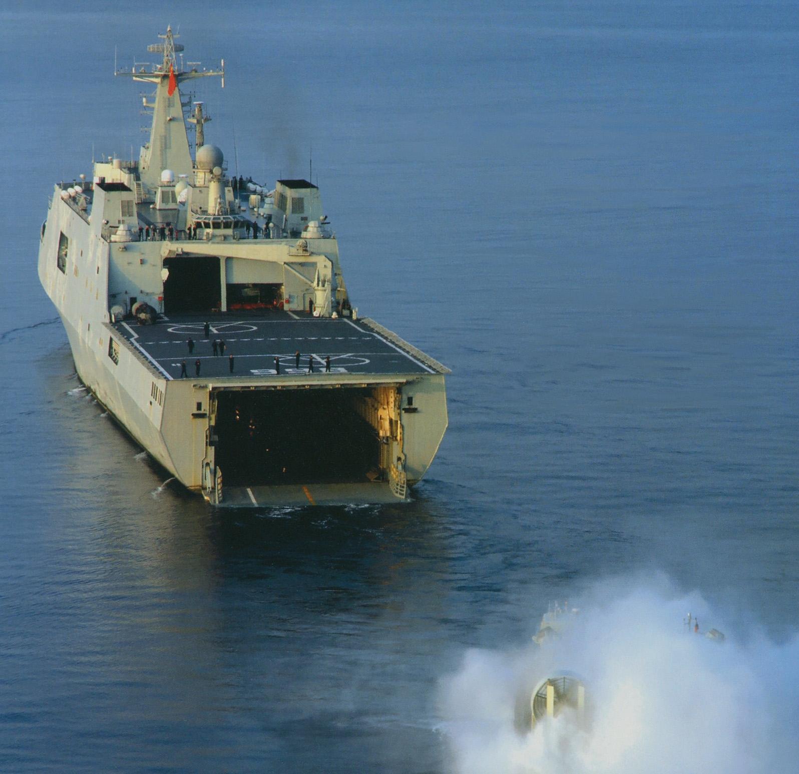 سفينه الانزال البرمائي Type 071 Yuzhao-class الصينيه  China+Type+071+amphibious+transport+dock%252C+or+landing+platform+dock+%2528LPD%2529++Type+071+%2528Yuzhao-class%2529+are+amphibious+warfare+ships+of+the+People%2527s+Republic+of+China%2527s+People%2527s+Liberation+Army+Navy+%25283%2529