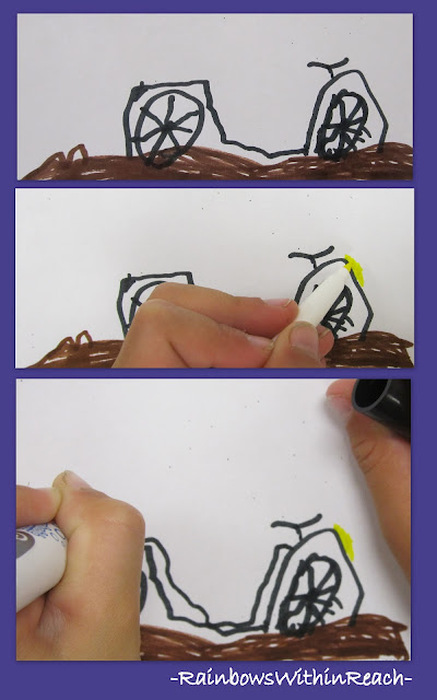 photo of: Drawing a Mountain Bike
