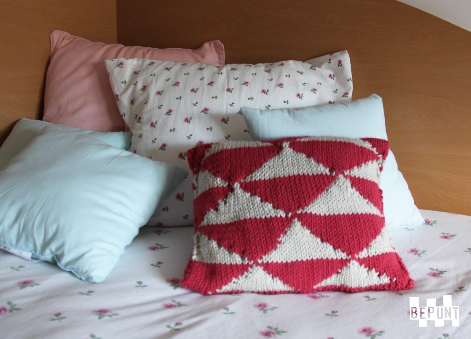 Bepunt coj n estampado para decorar la cama for Cojin para leer en la cama