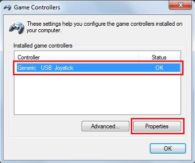 PC. Selanjutnya klik PROPERTIES untuk mengecek tombol-tombol pada