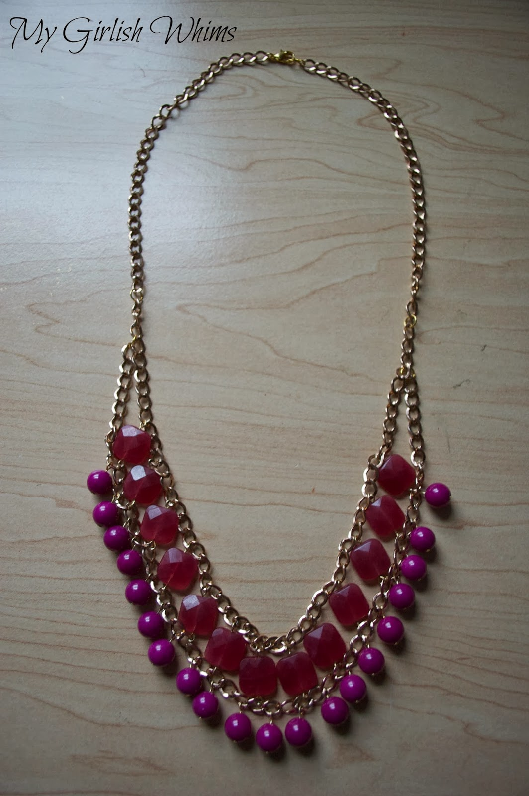 how to make a chain and bead necklace