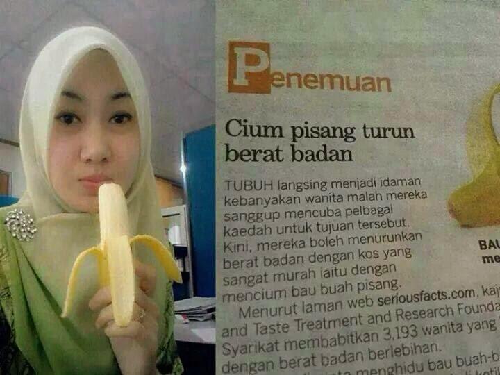 Cium pisang dapat turunkan berat badan