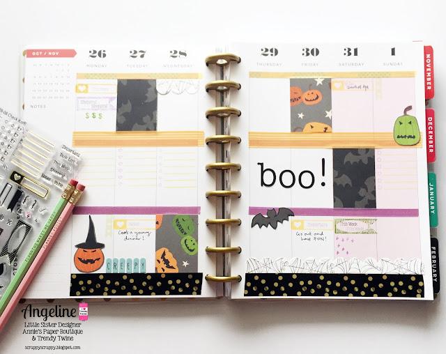 ScrappyScrappy: Happy Planner - Halloween week #scrappyscrappy #trendytwine #planner #checkitoff #halloween #planneraddict #happyplanner #planneraddictmalaysia