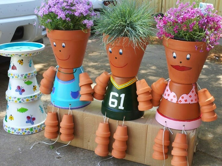 Shabby In Love How To Make Clay Pot Flower People