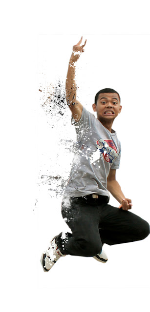 destorasai8 Membuat efek dispersion dengan brush Splatter di photoshop