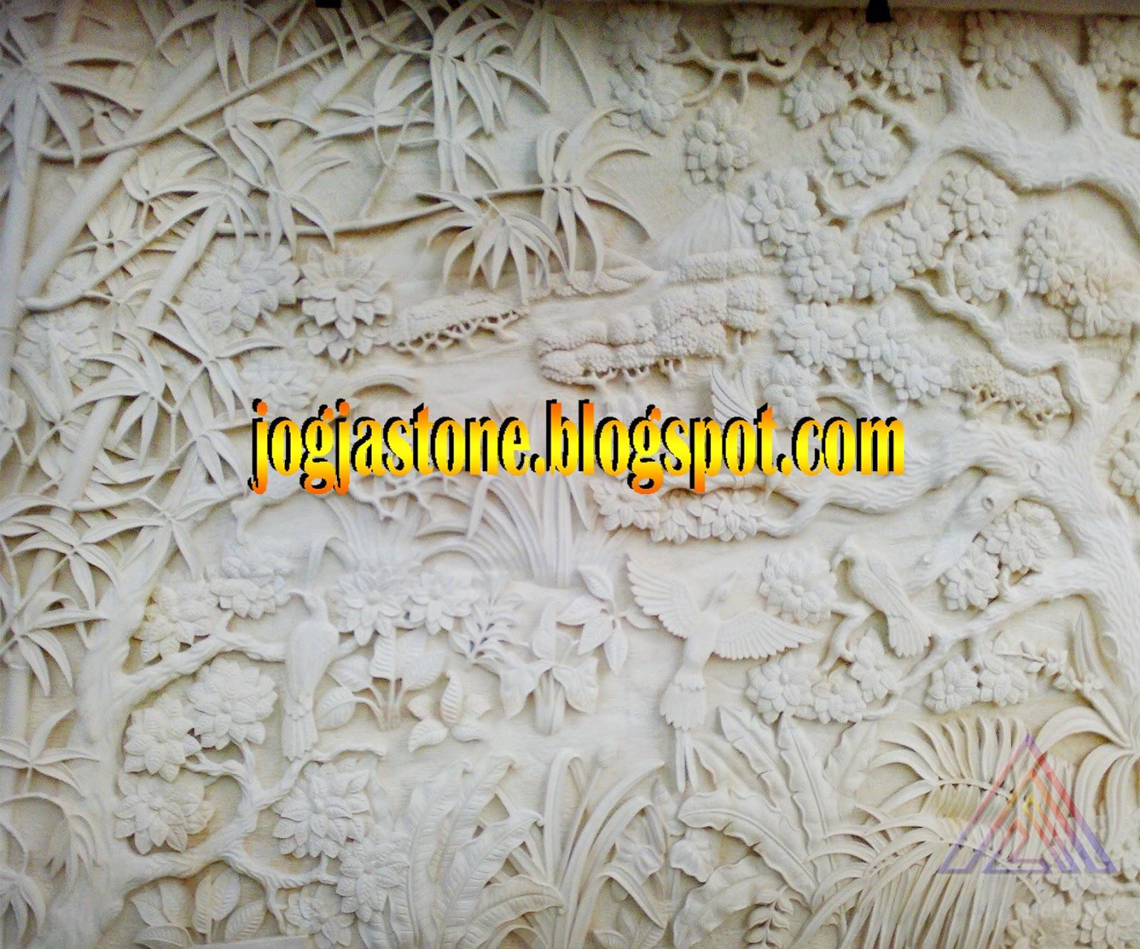 relief kerajinan ukir batu alam paras jogja batu putih