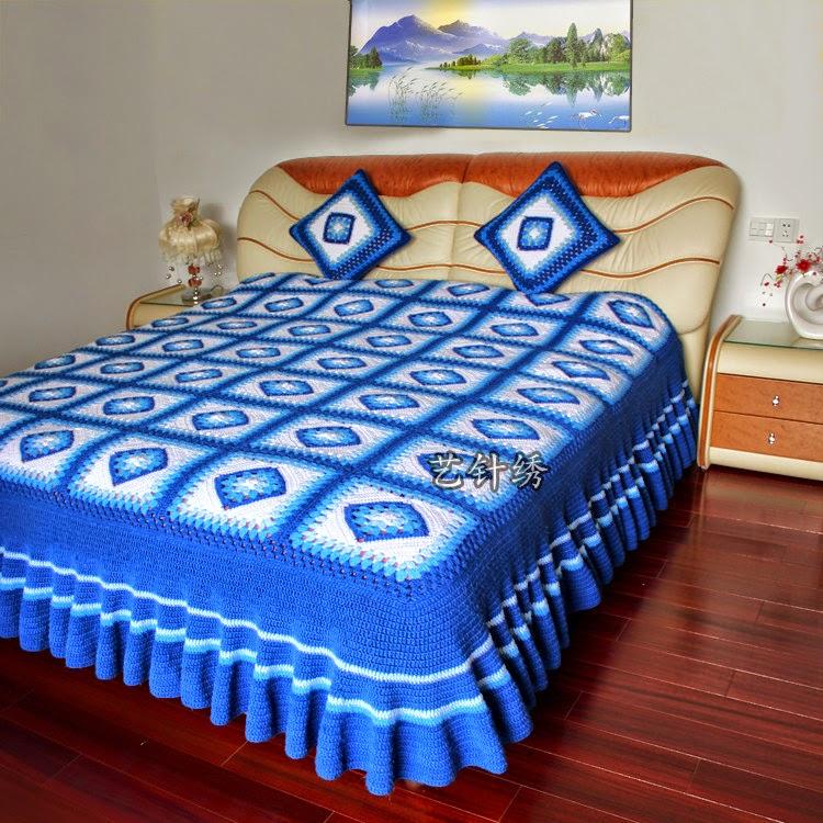 sobrecama al crochet   ideas para tu hogar crochet y dos