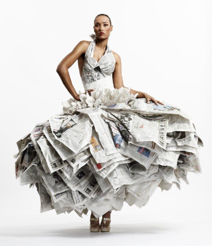 Thebigfront Newspaper Dresses Make Headlines