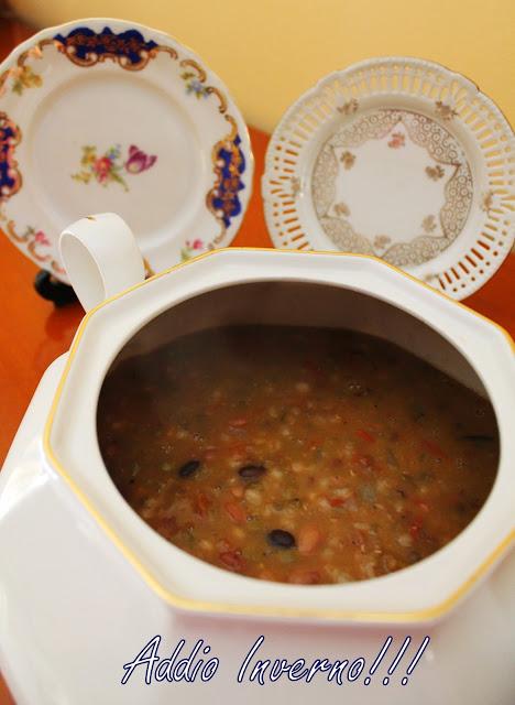 minestrone di legumi e cereali