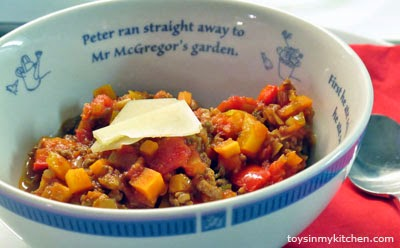 Beef Leek and Red Pepper Ragout - Healthy recipe for children