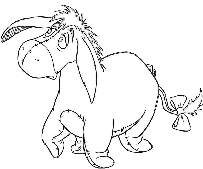 how to draw eeyore cute
