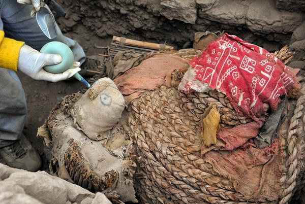 Wari Masked Mummy