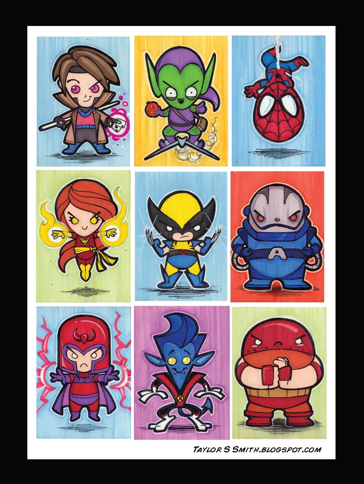 Smith  Illustration and Sketch Journal: Chibi Superhero Sketch Cards