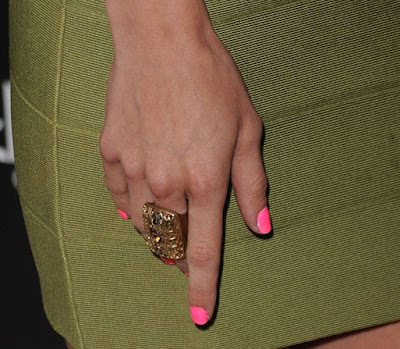 AnnaLynne McCord Gold Cocktail Ring