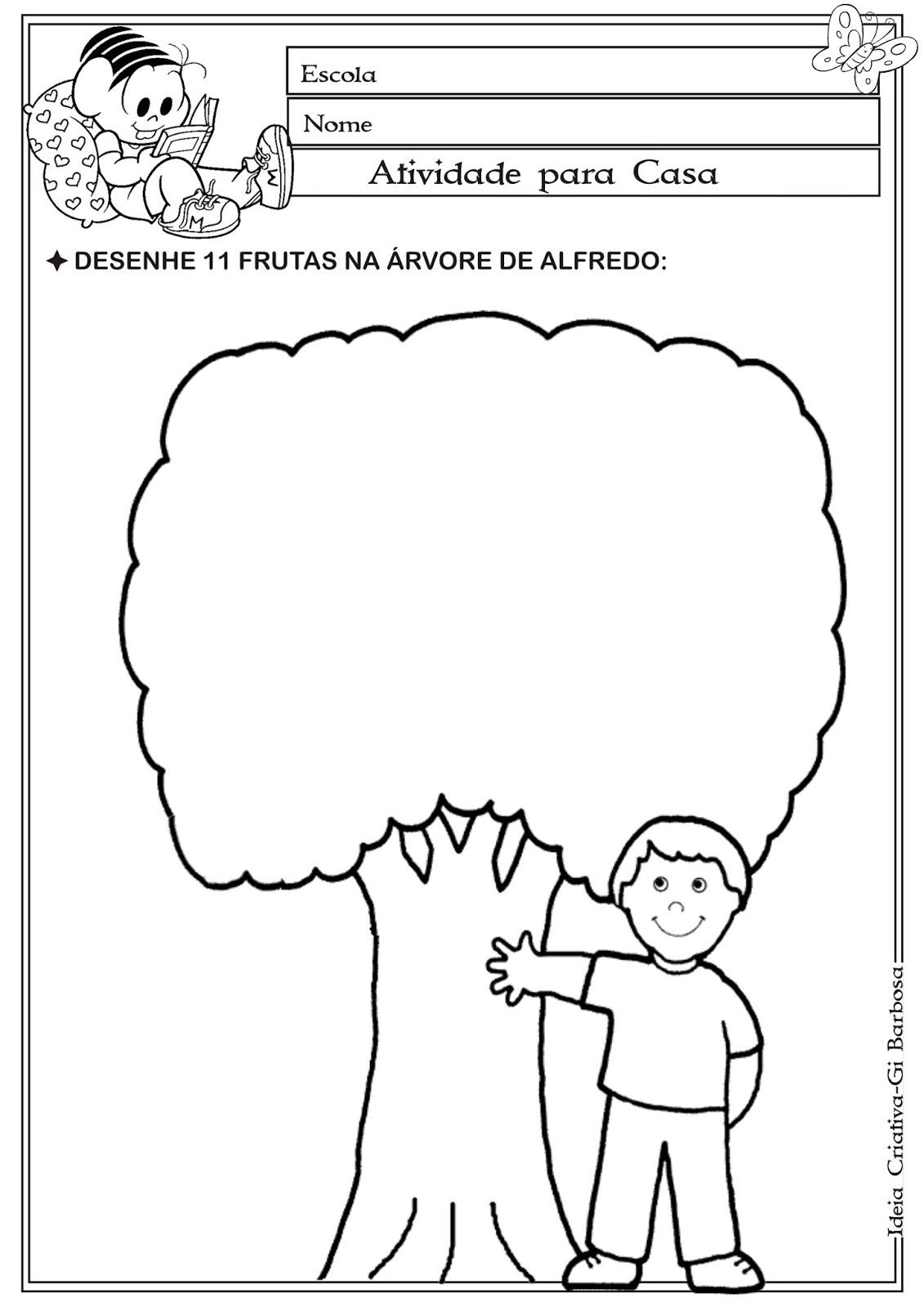 Atividade Matemática Educação Infantil Dia da Árvore Número e Quantidade.