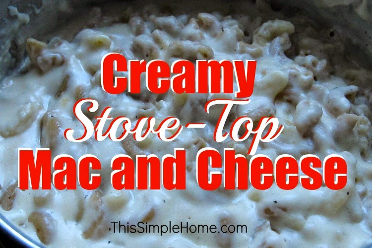 creamy macaroni and cheese made on the stovetop