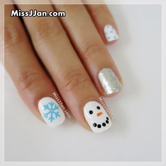 Snowman Nail Art Tutorial: MissJJan's Beauty Blog ♥: Cute & Easy ☃ Snowman Nails