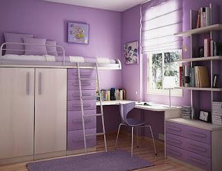 Purple teenage bedroom ideas