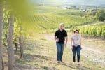 Helga und Peter J. König im Gespräch mit Christian und Corinna Hessert, Weingut Hessert, Horrweiler