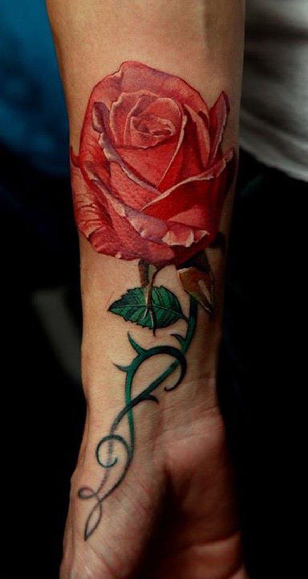 Những hình xăm hoa hồng đẹp