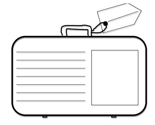 Breathtaking image with suitcase template printable
