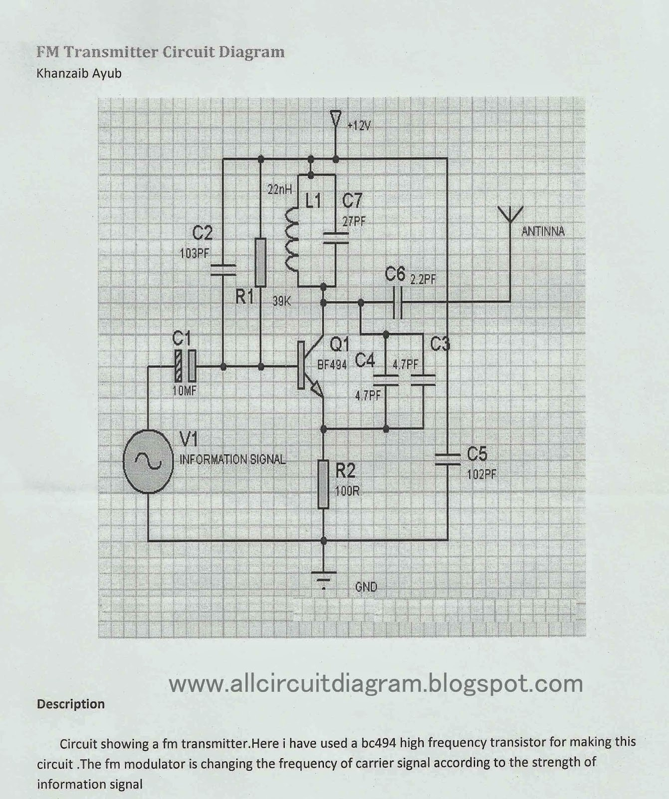 Fm Transceiver Circuit Diagram Wiring Diagrams 3w Transmitter Electronic Gallery Of Bluetooth