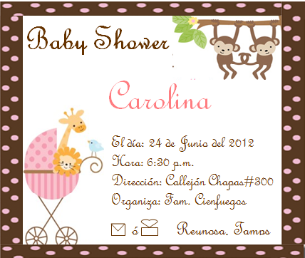 Leyenda tarjetas baby shower niña - Imagui