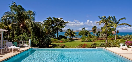 Nevis beachfront home for sale with pool and sea view