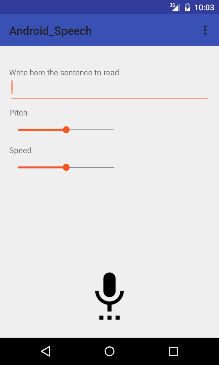 Android text to speech settings