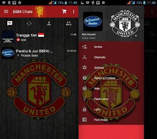 BBM Mod Tampilan Klub Bola Manchester United