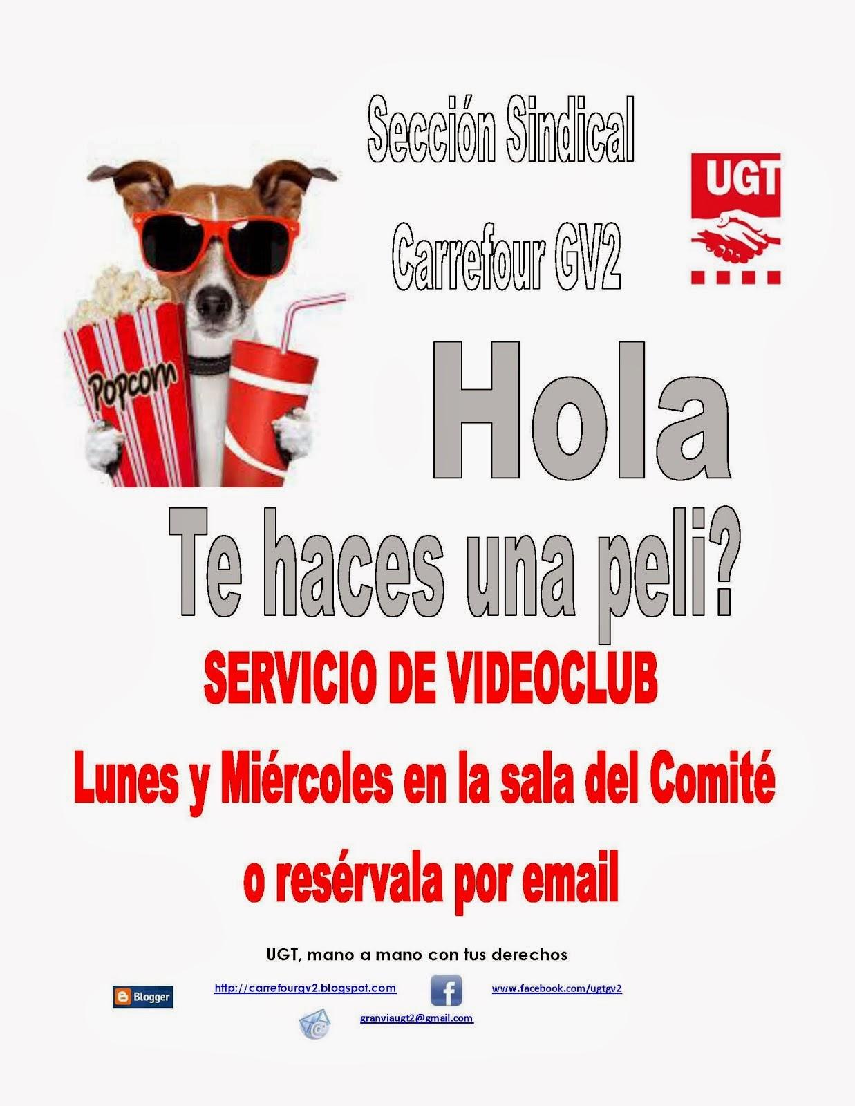 Videoclub trabajadores Carrefour