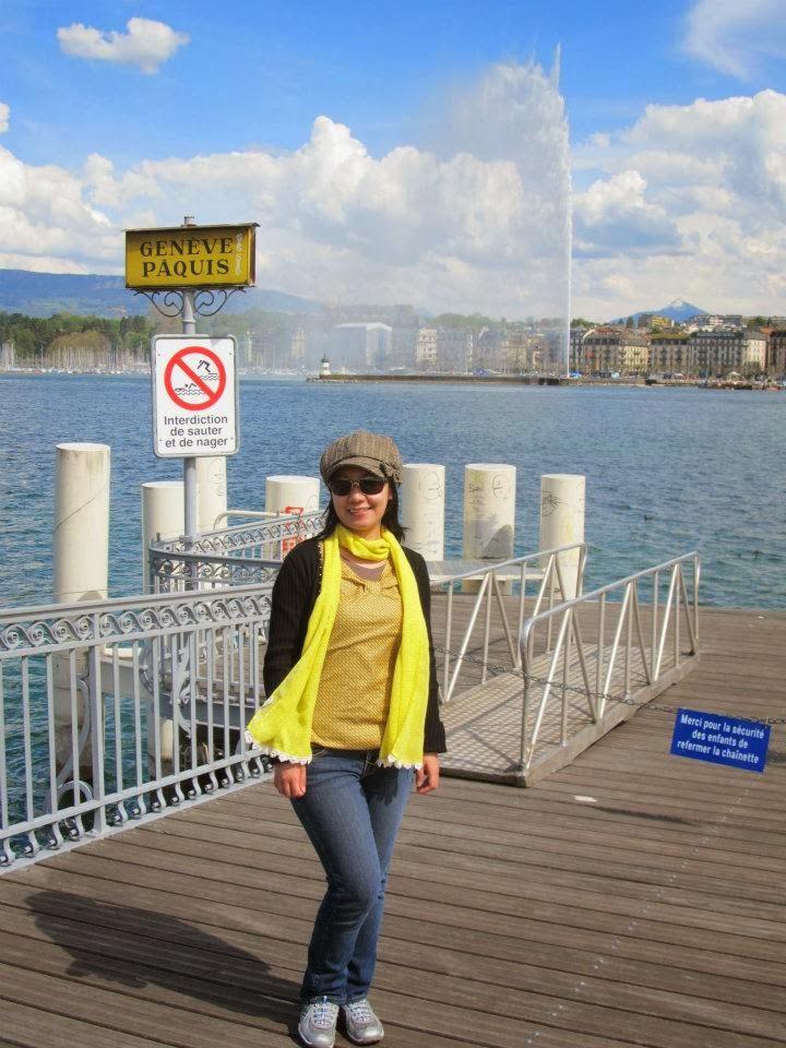 Geneva Switzerland Lake Geneva Jet d'Eau Geneva Water Fountain