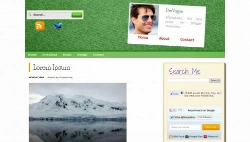 PreVogue - Free Blogger Template
