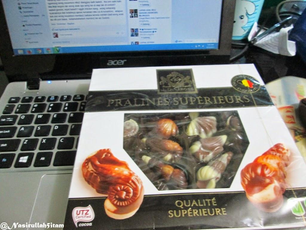 Coklat dari Belgia dari teman