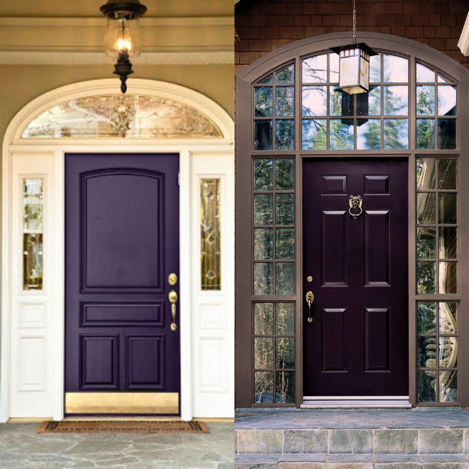 1600 #967335 Behind The Big Green Door: Painted Front Door Inspiration wallpaper Purple Front Doors 47051600
